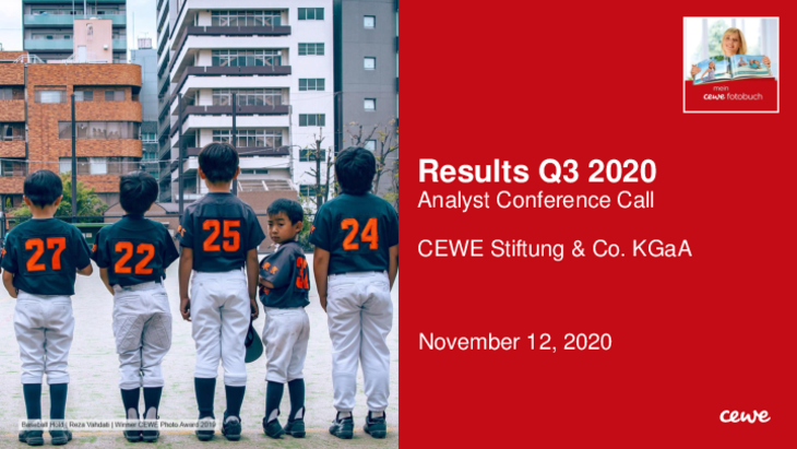 Conference call: Results Q3/2020